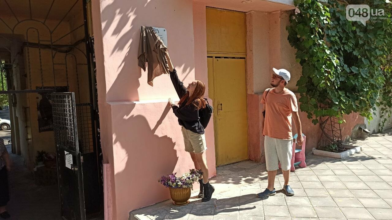 В Одессе установили памятную табличку по мотивам произведений Бабеля, - ФОТО, фото-2