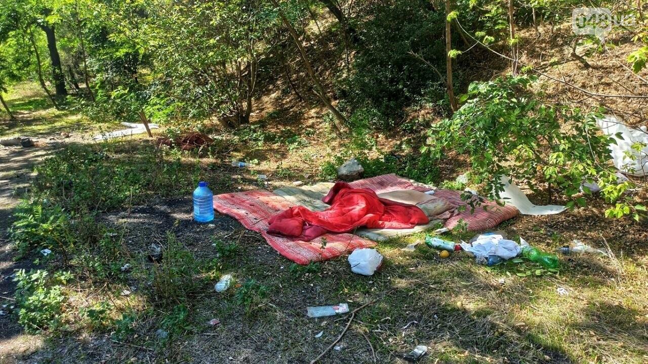 В Одессе возле Ланжерона горел кемпинг бездомных, - ФОТО2