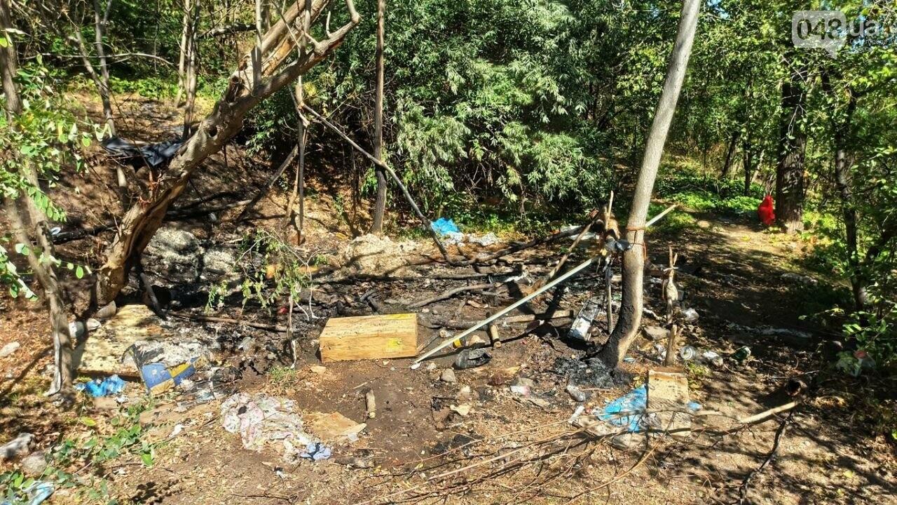 В Одессе возле Ланжерона горел кемпинг бездомных, - ФОТО3