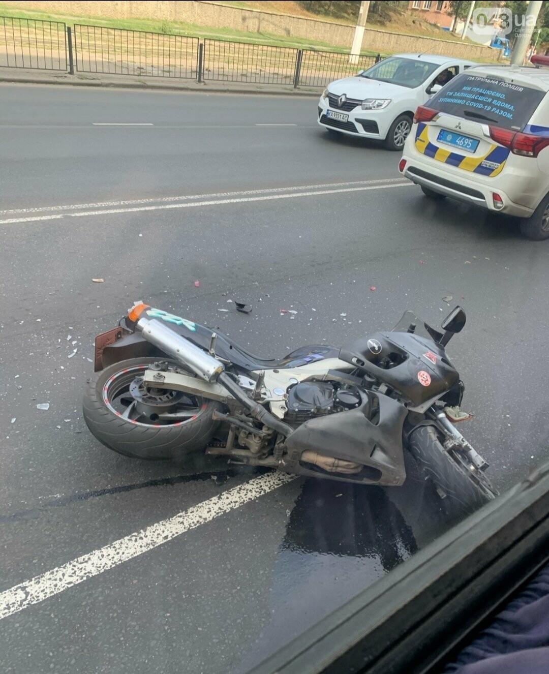 В Одессе произошло ДТП с участием мотоцикла, - ФОТО1