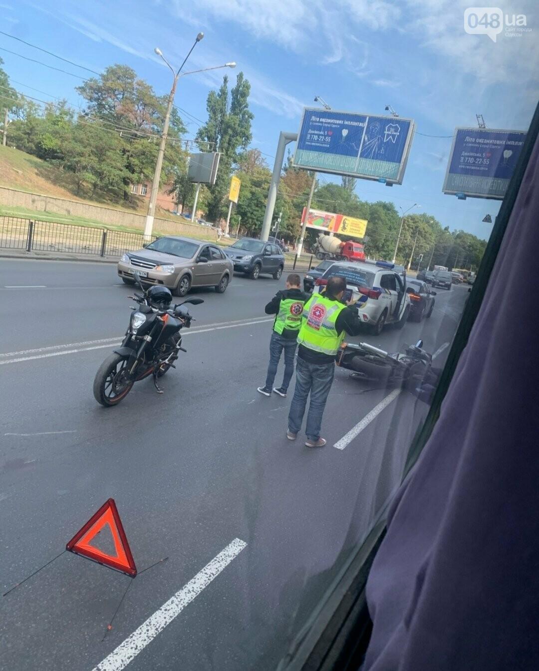 В Одессе произошло ДТП с участием мотоцикла, - ФОТО2