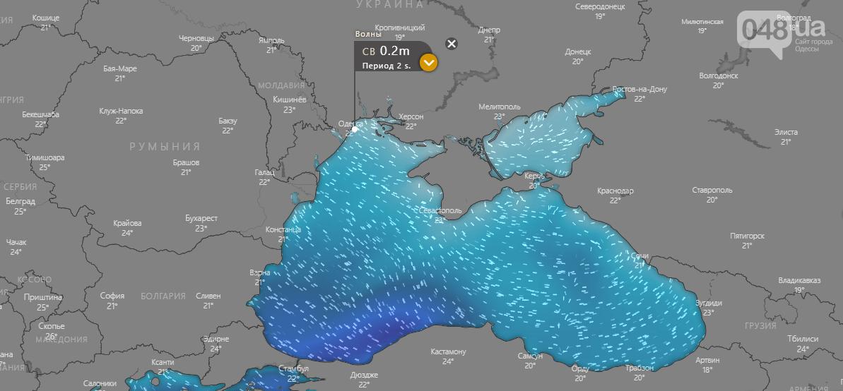 Windy.com, Погода в Одессе на 20 сентября.3
