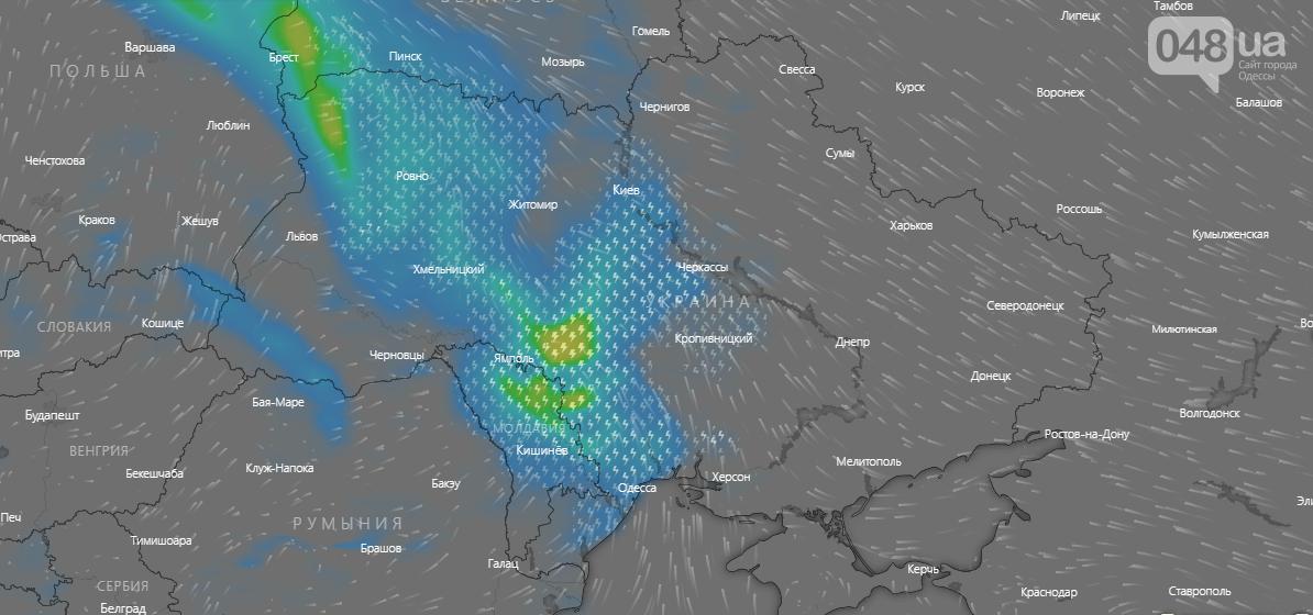 Windy.com., Погода в Одессе на неделю.1