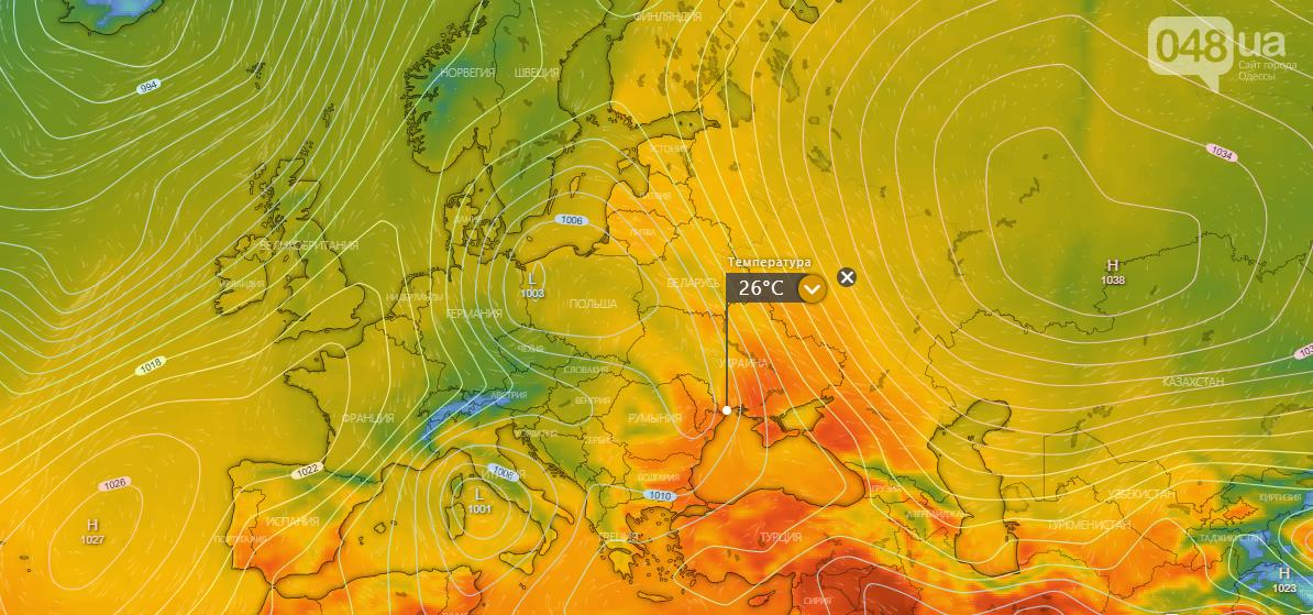 Погода в Одессе на неделю., Windy.com.