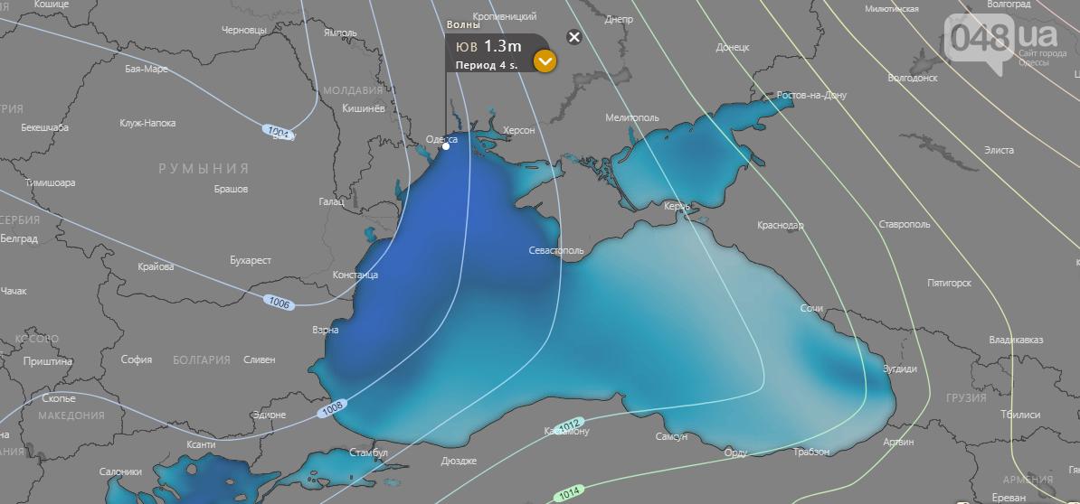 Windy.com., Погода в Одессе на неделю.2