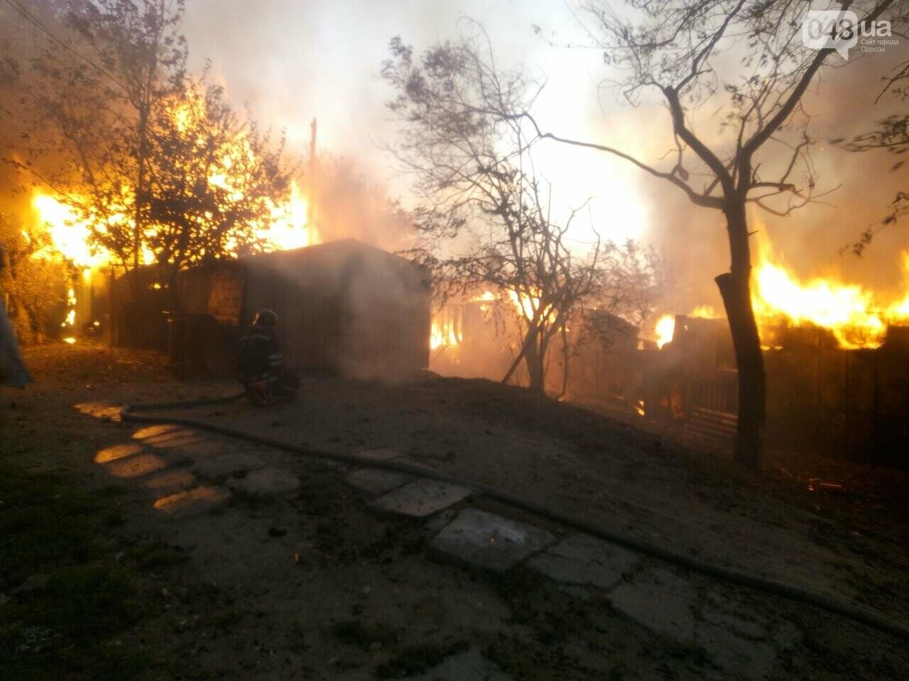 В Одессе случился масштабный пожар: горели рыбацкие домики, - ФОТО1