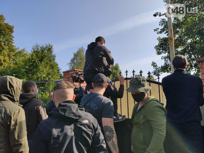 В одесском Совиньоне около 500 полицейских: активисты блокируют съезд ОПЗЖ, - ФОТО, ВИДЕО, фото-1
