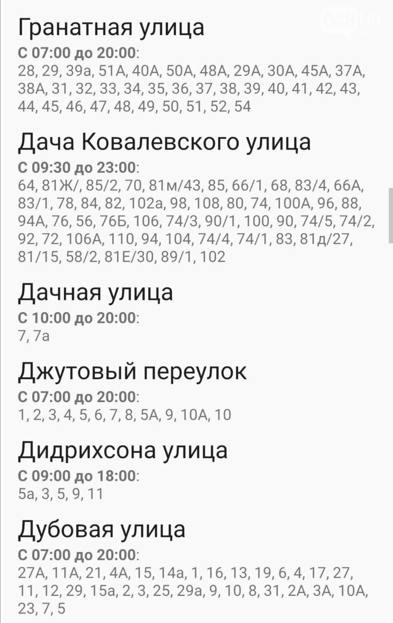 Отключение света в Одессе в выходные дни: график на 26-27 сентября , фото-5
