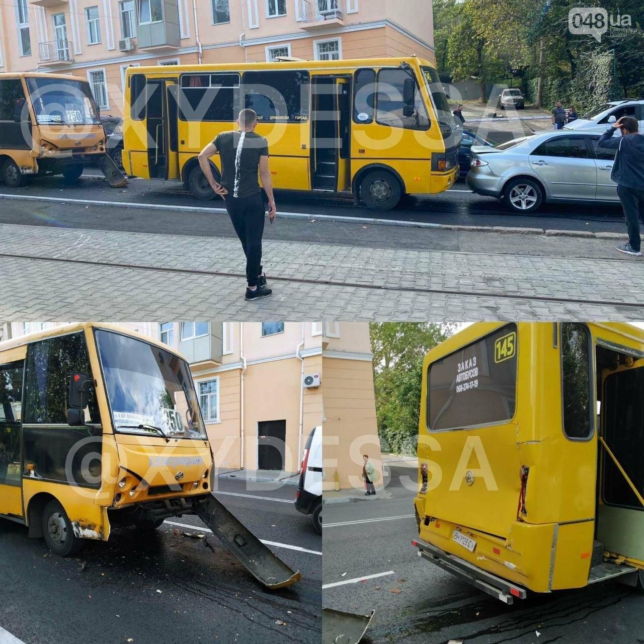 В Одессе у маршрутки отказали тормоза, есть пострадавшие, - ФОТО1
