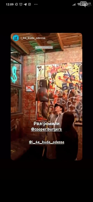 В Одессе в честь закрытия двух ресторанов владелец и посетители устроили погром, - ФОТО6
