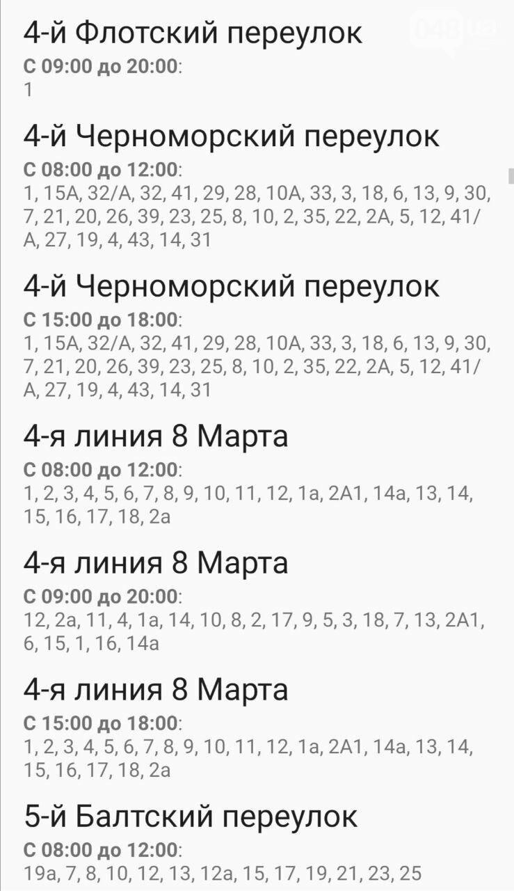 Отключения света в Одессе завтра: график на 7 октября11