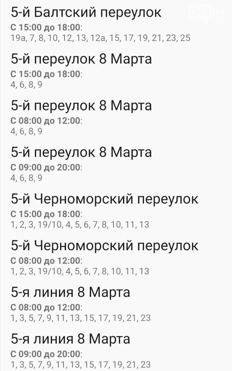 Отключения света в Одессе завтра: график на 7 октября12