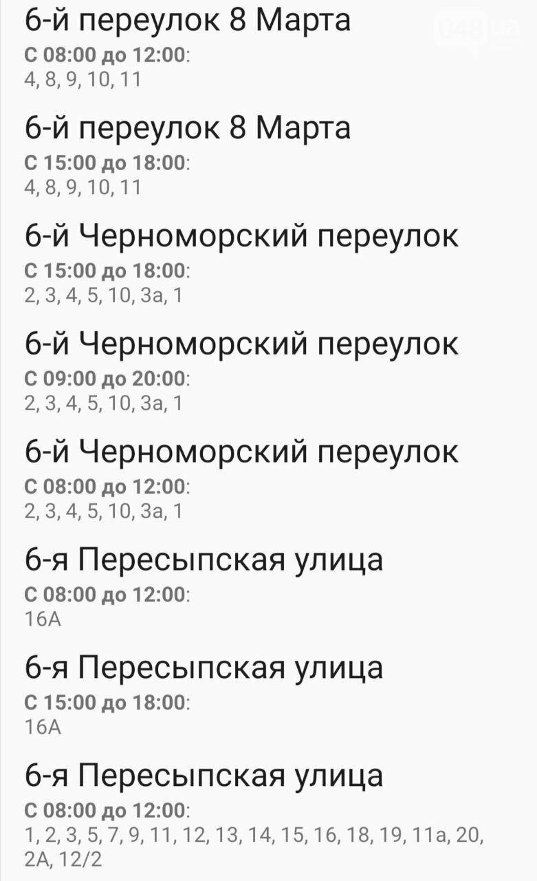 Отключения света в Одессе завтра: график на 7 октября14