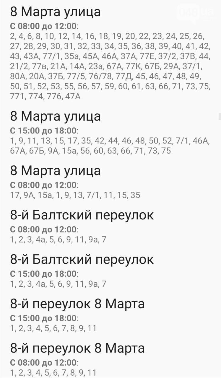 Отключения света в Одессе завтра: график на 7 октября18