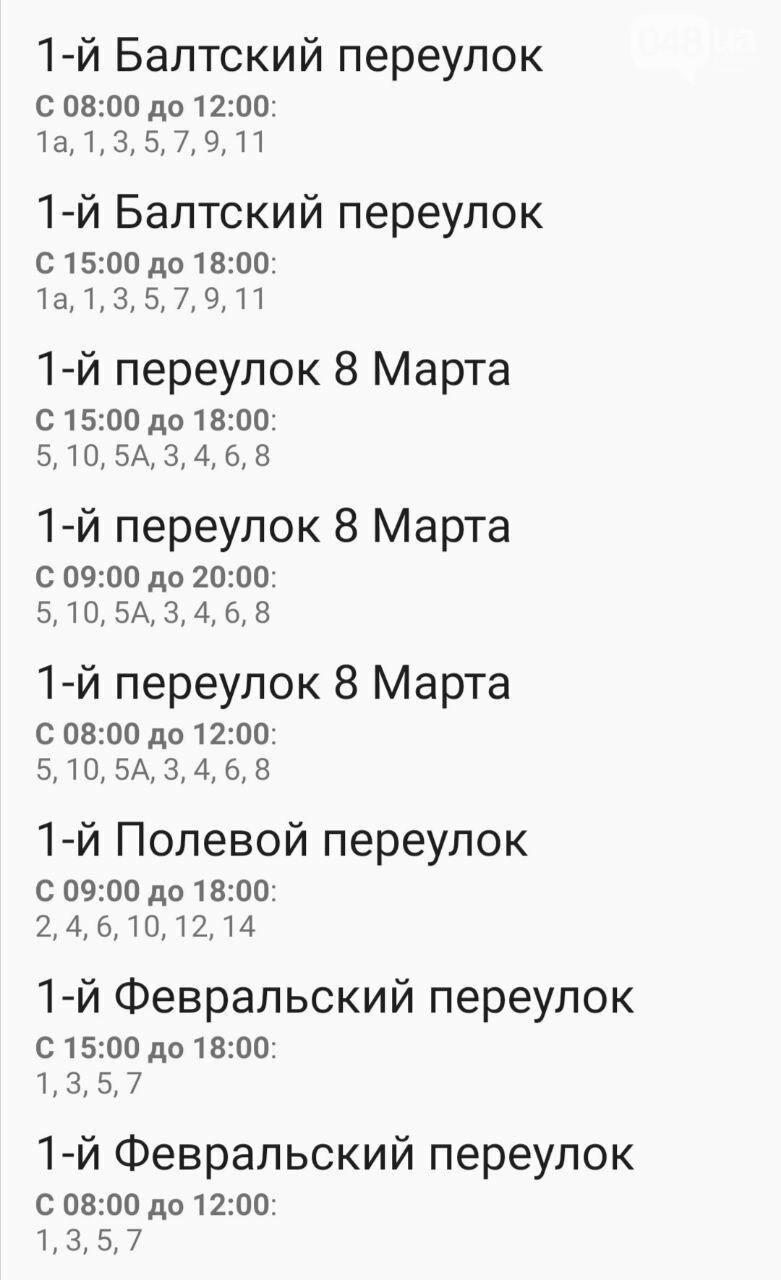 Отключения света в Одессе завтра: график на 7 октября1