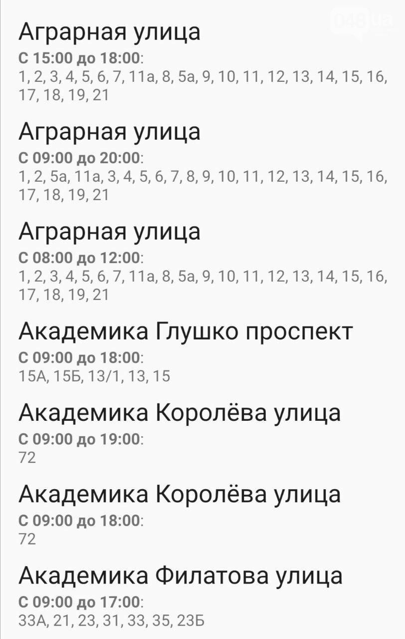 Отключения света в Одессе завтра: график на 7 октября21