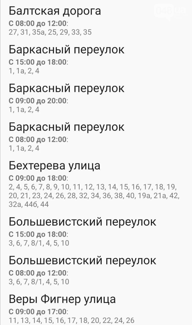 Отключения света в Одессе завтра: график на 7 октября25