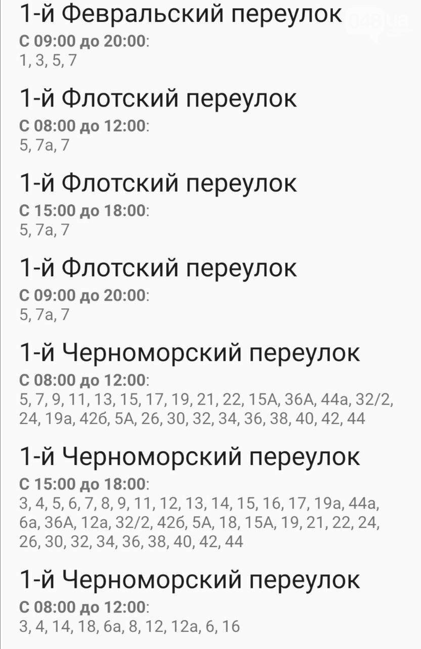 Отключения света в Одессе завтра: график на 7 октября2