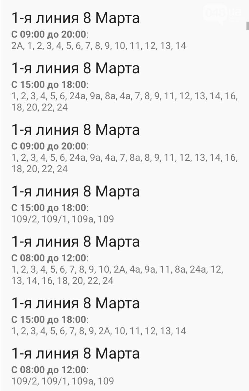 Отключения света в Одессе завтра: график на 7 октября3