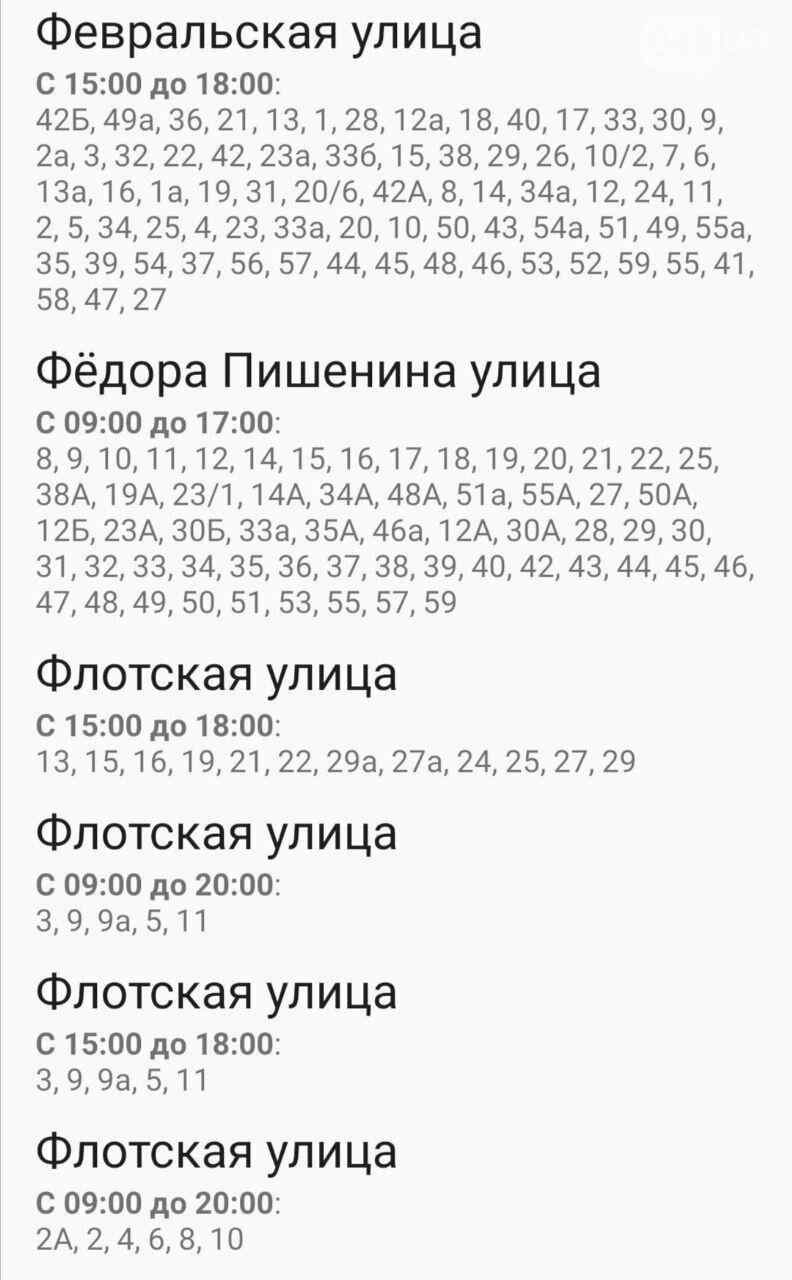 Отключения света в Одессе завтра: график на 7 октября48