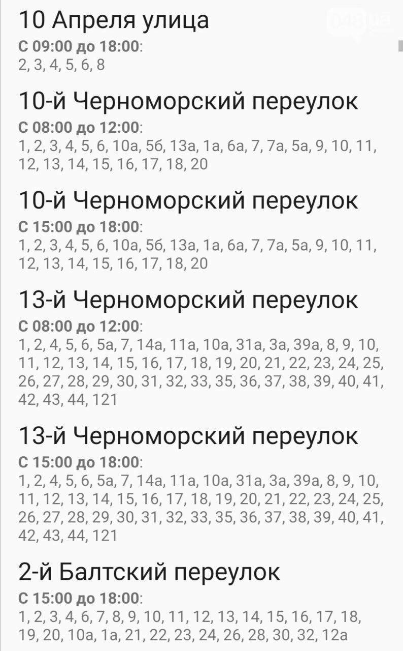 Отключения света в Одессе завтра: график на 7 октября4