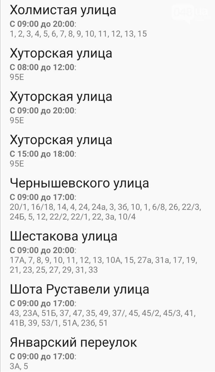 Отключения света в Одессе завтра: график на 7 октября51