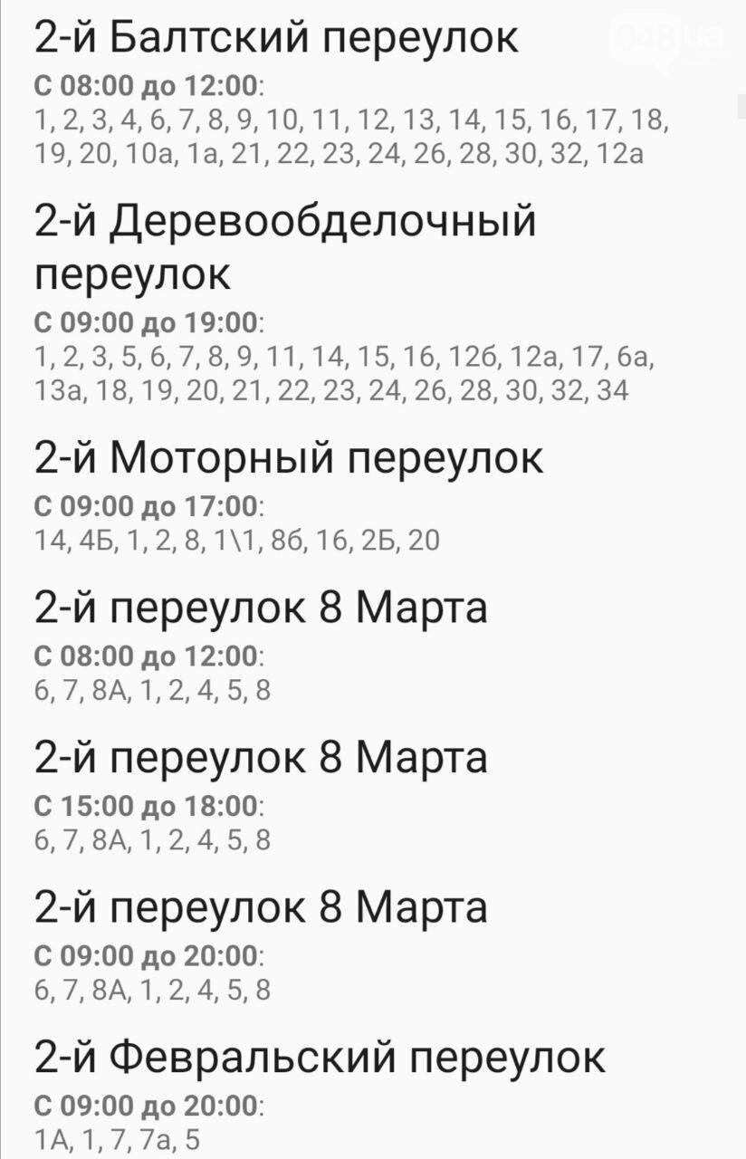 Отключения света в Одессе завтра: график на 7 октября5