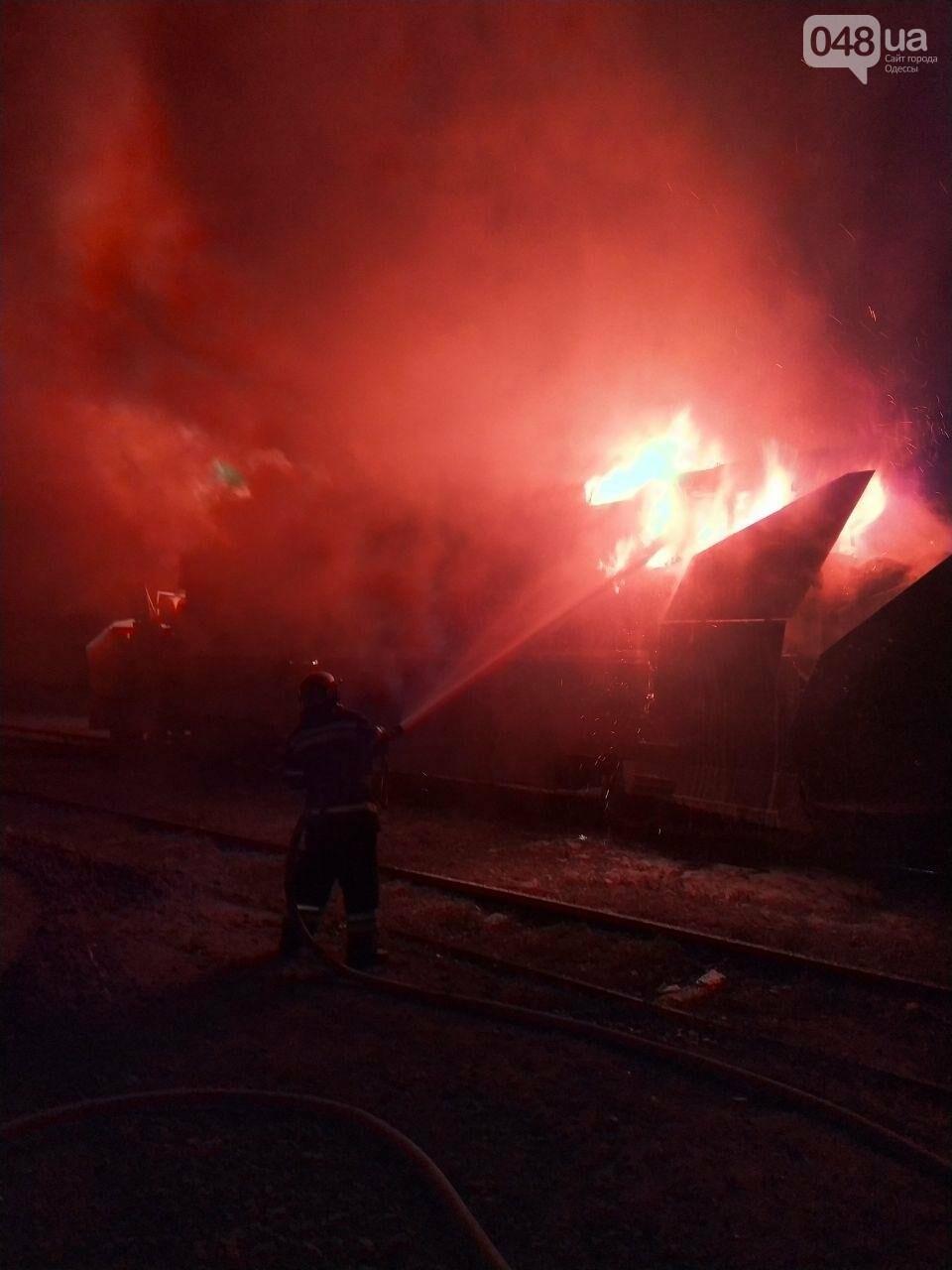 В Одесской области на железной дороге тушили масштабный пожар, - ФОТО1