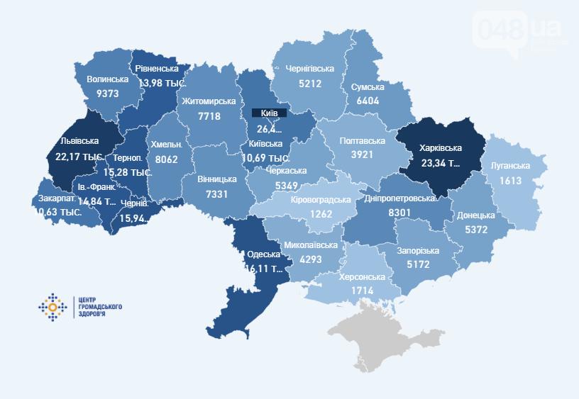 Карта коронавируса в Украине., Центр общественного здоровья