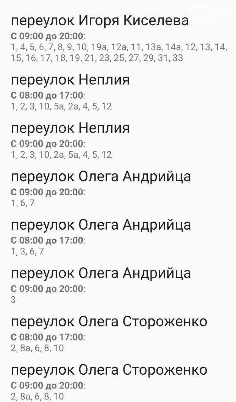 Где завтра в Одессе не будет света: график на 13 октября , фото-22