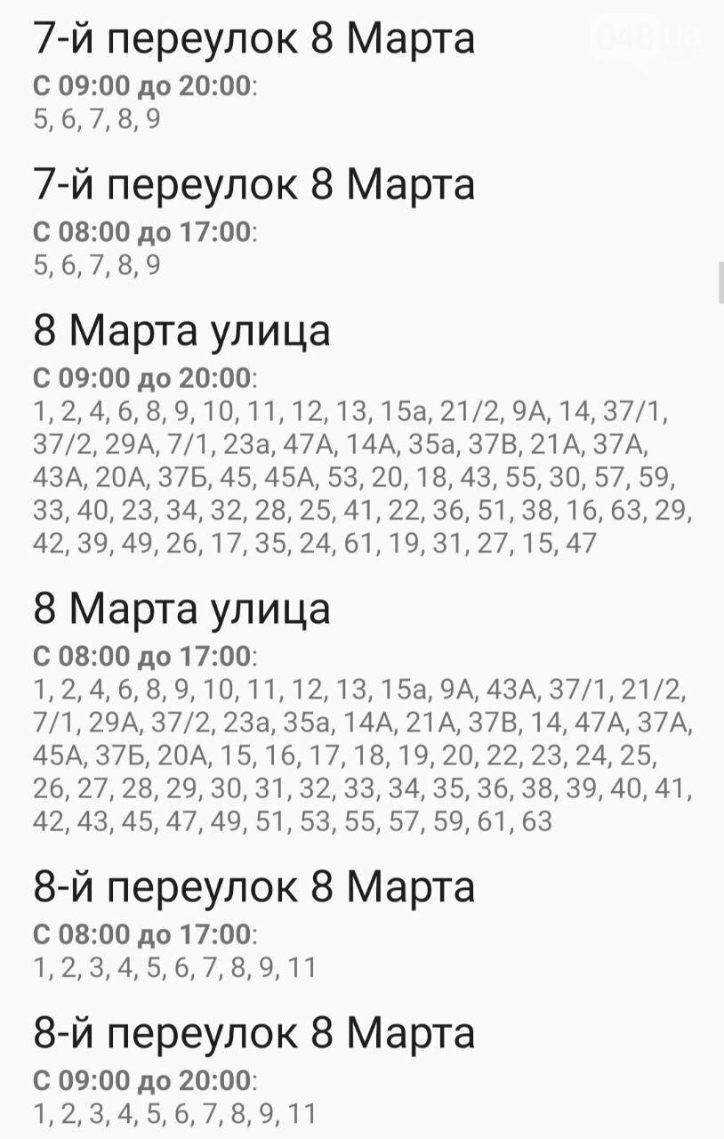 Где завтра в Одессе не будет света: график на 13 октября , фото-7