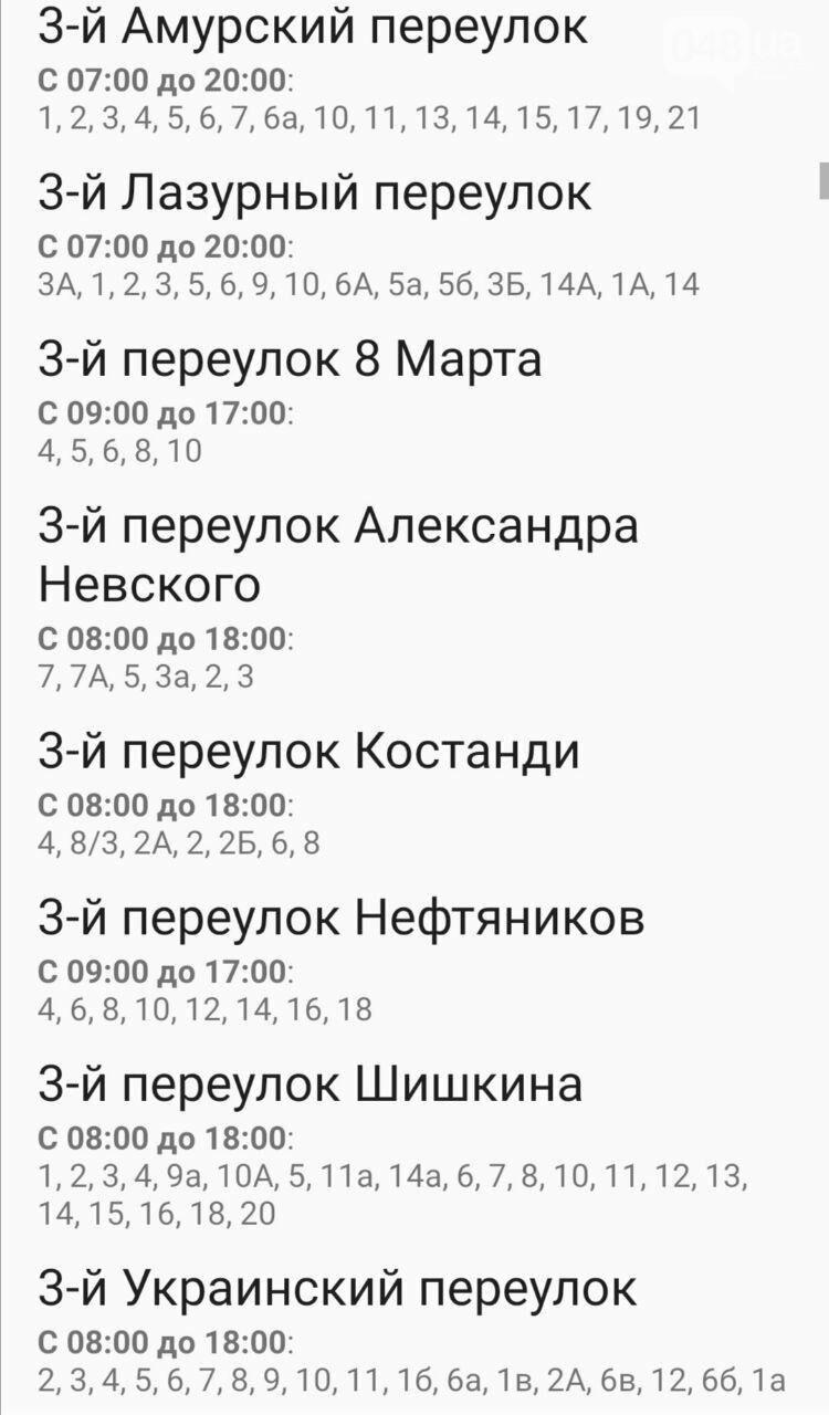 Где завтра в Одессе не будет света: график отключений на 20 октября , фото-4