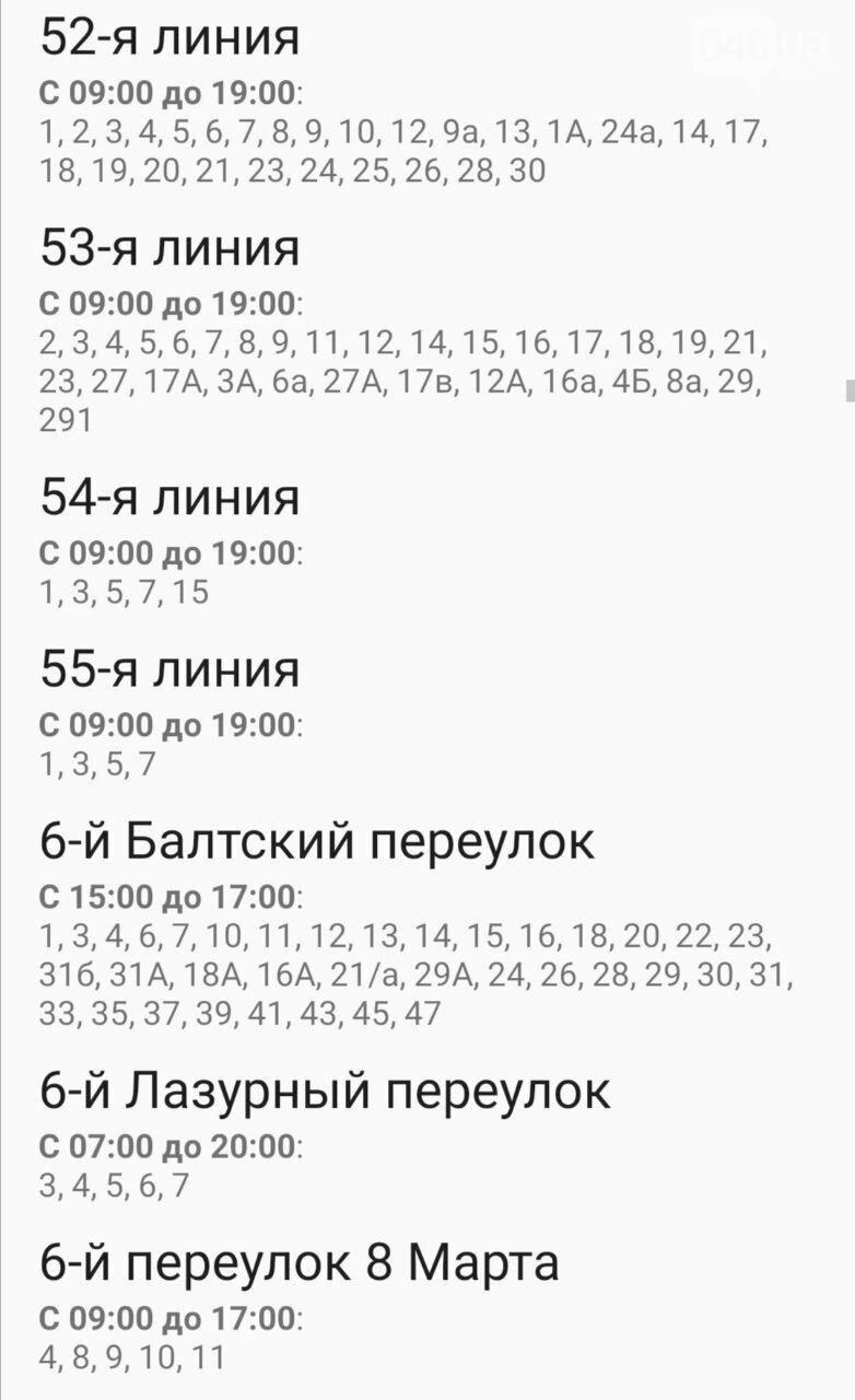 Где завтра в Одессе не будет света: график на 22 октября , фото-16