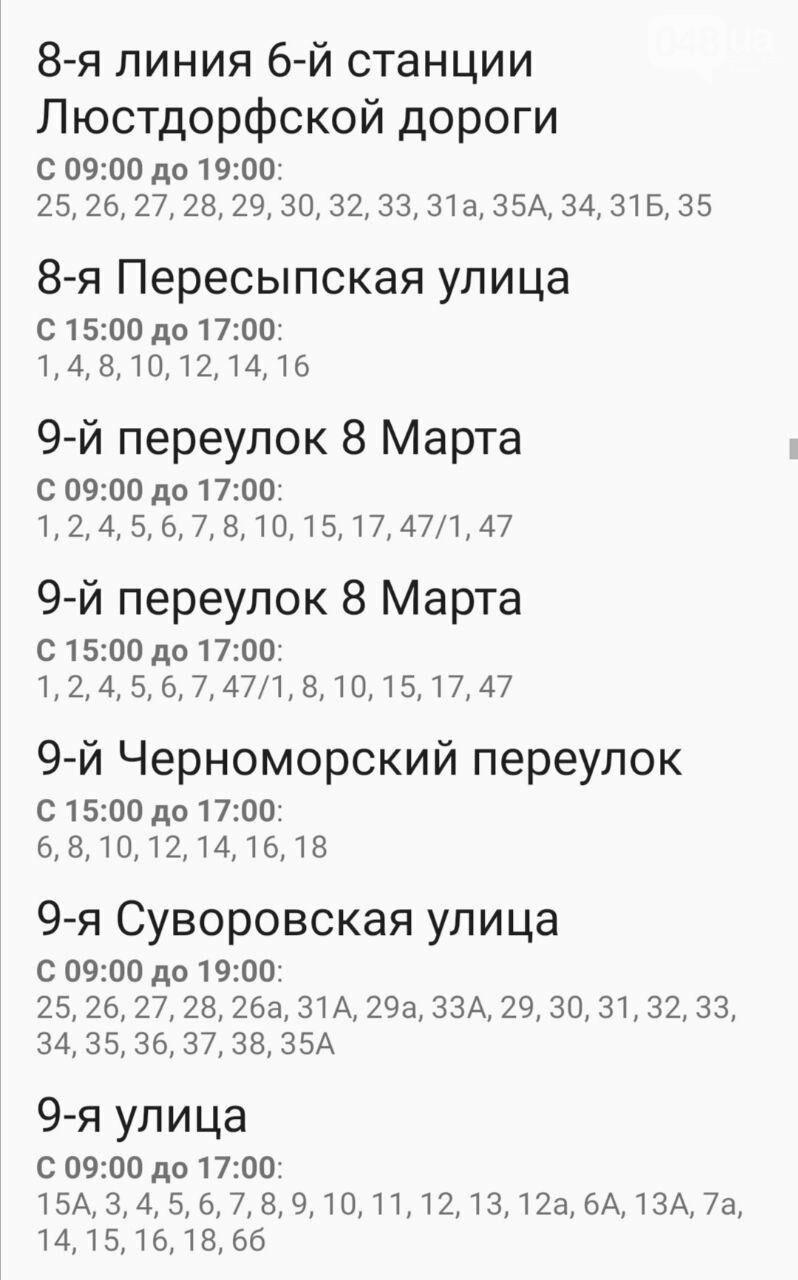 Где завтра в Одессе не будет света: график на 22 октября , фото-21