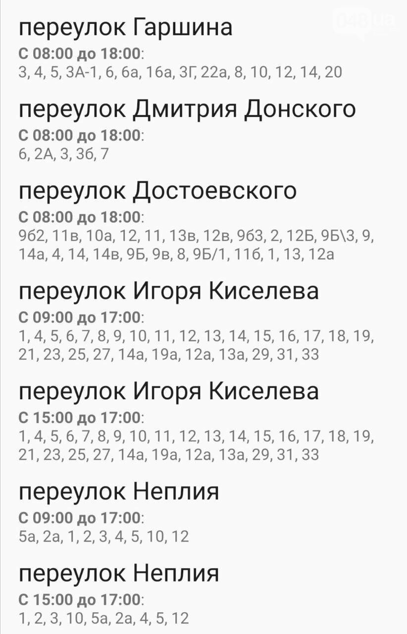Где завтра в Одессе не будет света: график на 22 октября , фото-55