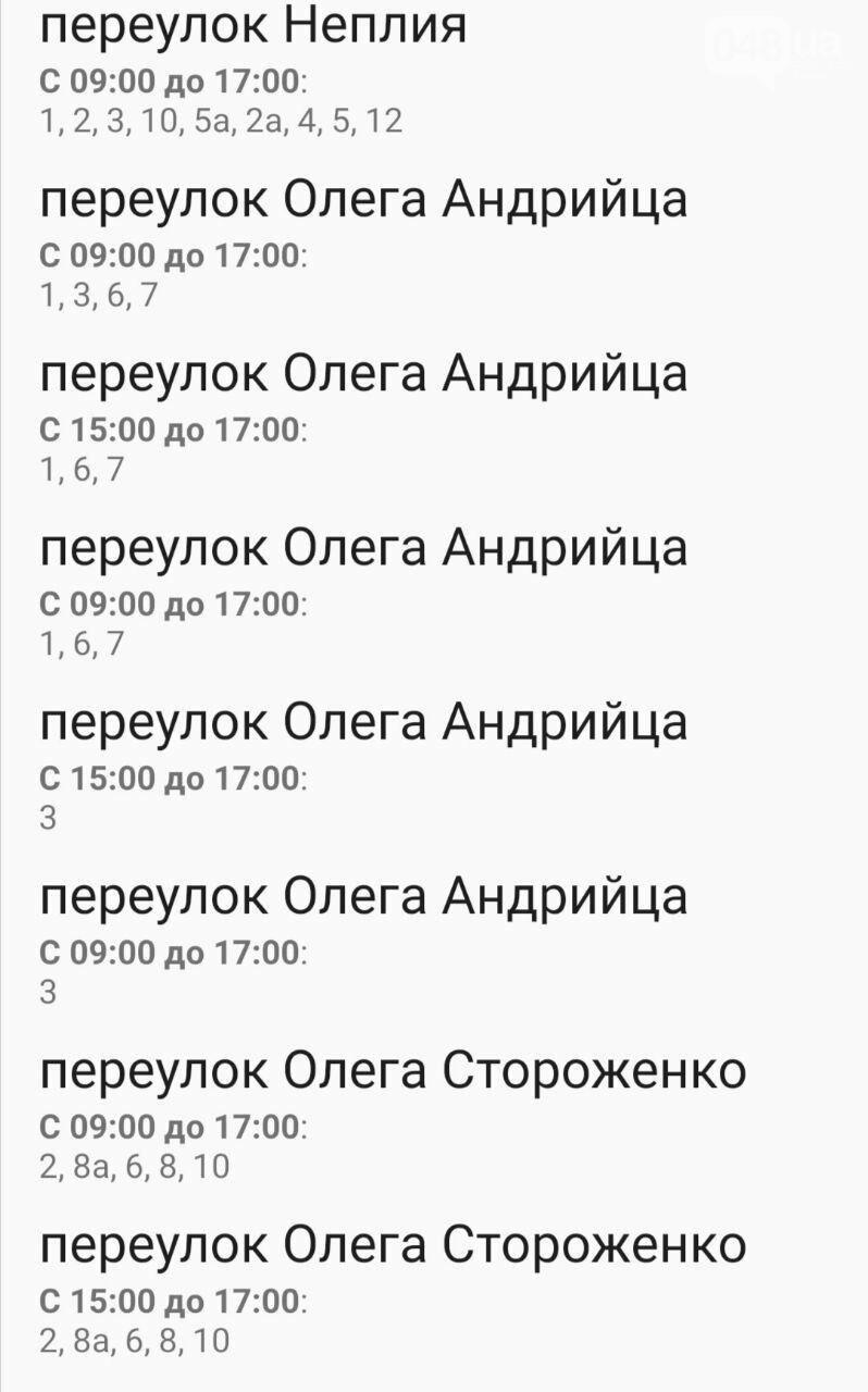 Где завтра в Одессе не будет света: график на 22 октября , фото-56