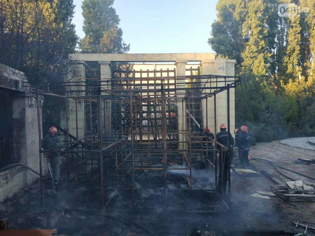 В Одесской области горел летний ресторан, - ФОТО, ВИДЕО2
