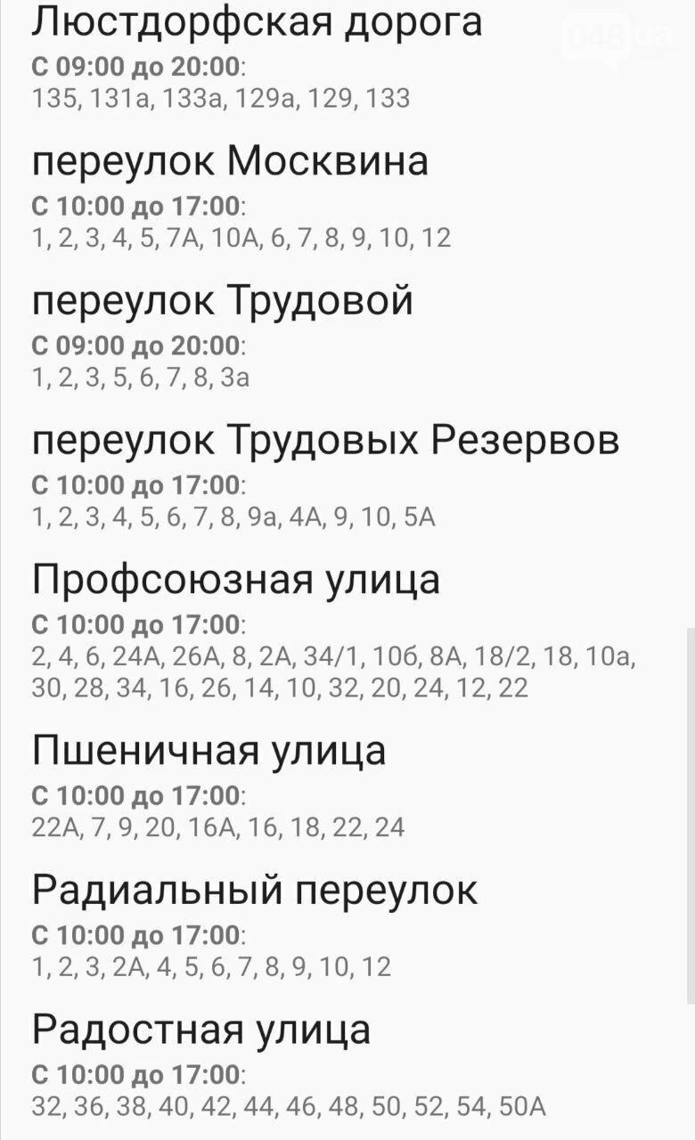 По каким адресам в Одессе не будет света 24-25 октября: график , фото-4