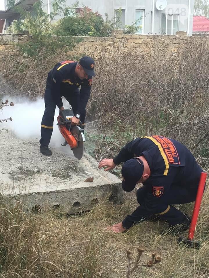 Под Одессой спасали кота, который застрял в бетонной плите,..., фото-22