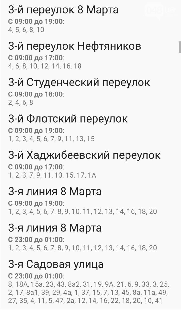 По каким адресам завтра в Одессе не будет света , фото-6