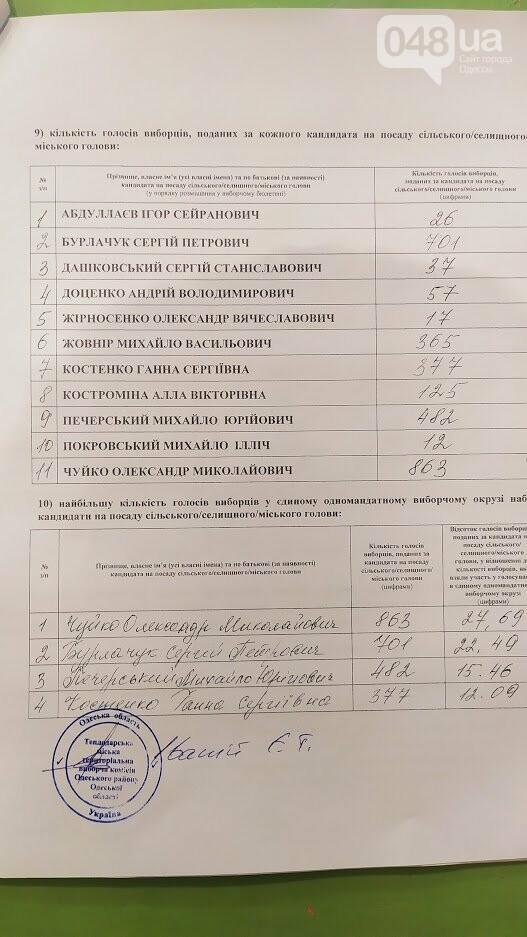 Протокол ТВК по результатам выборов на пост мэра Теплодара.