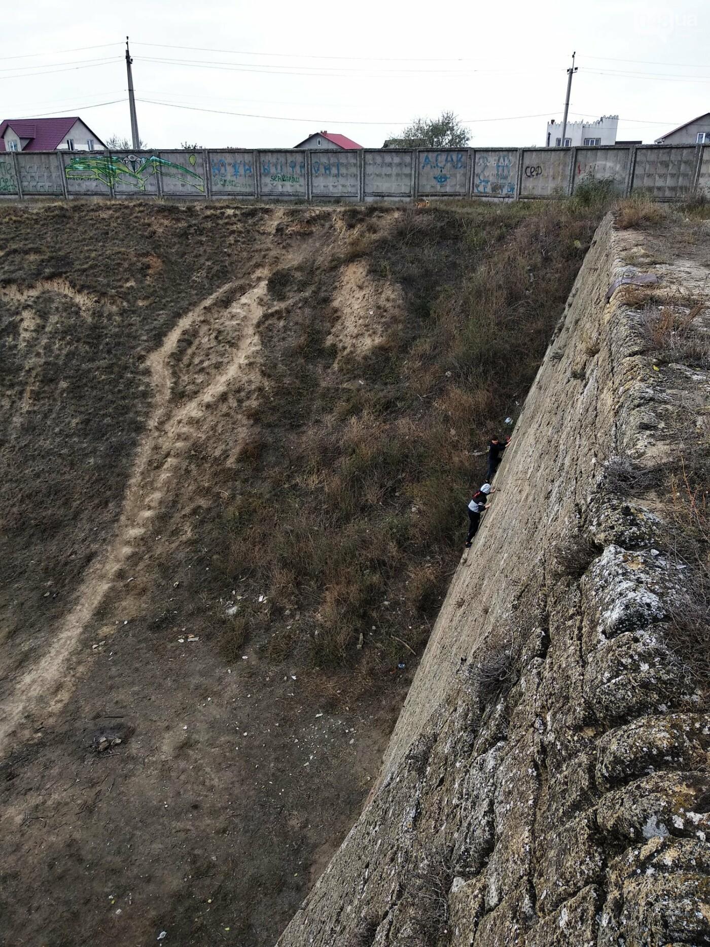 Подросток забрался на Куяльницкую стенку под Одессой и ждал..., фото-11