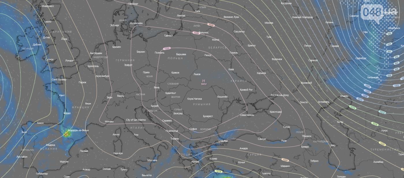 Погода в Одессе на неделю.1