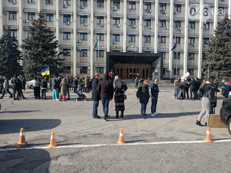 В Одессе предприниматели митингуют против карантина выходного дня, - ФОТО1