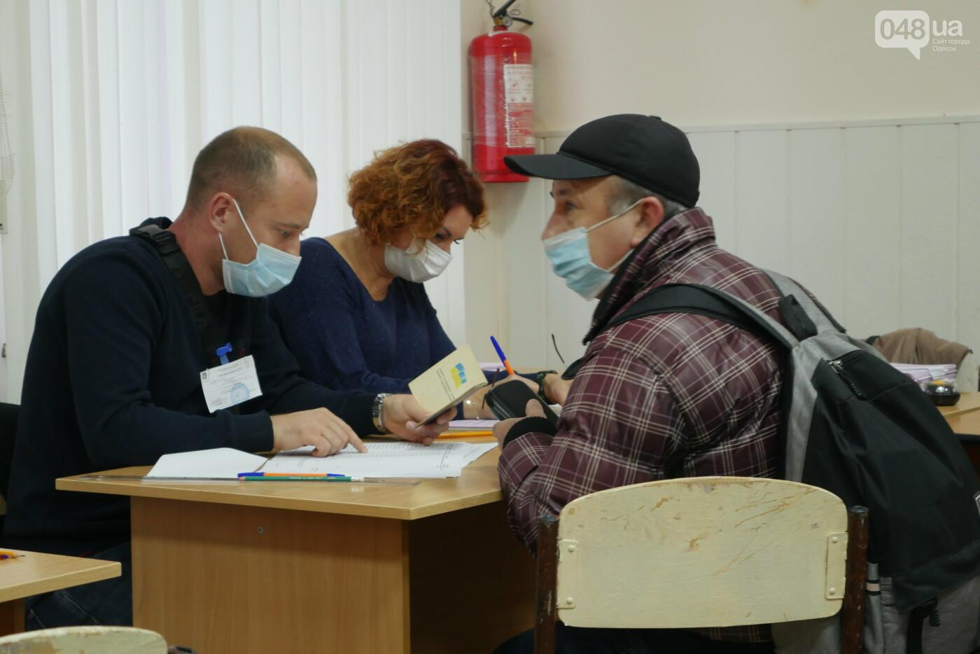 Выборы 2020: Как в Одессе открывались избирательные участки, - ФОТОРЕПОРТАЖ, фото-3