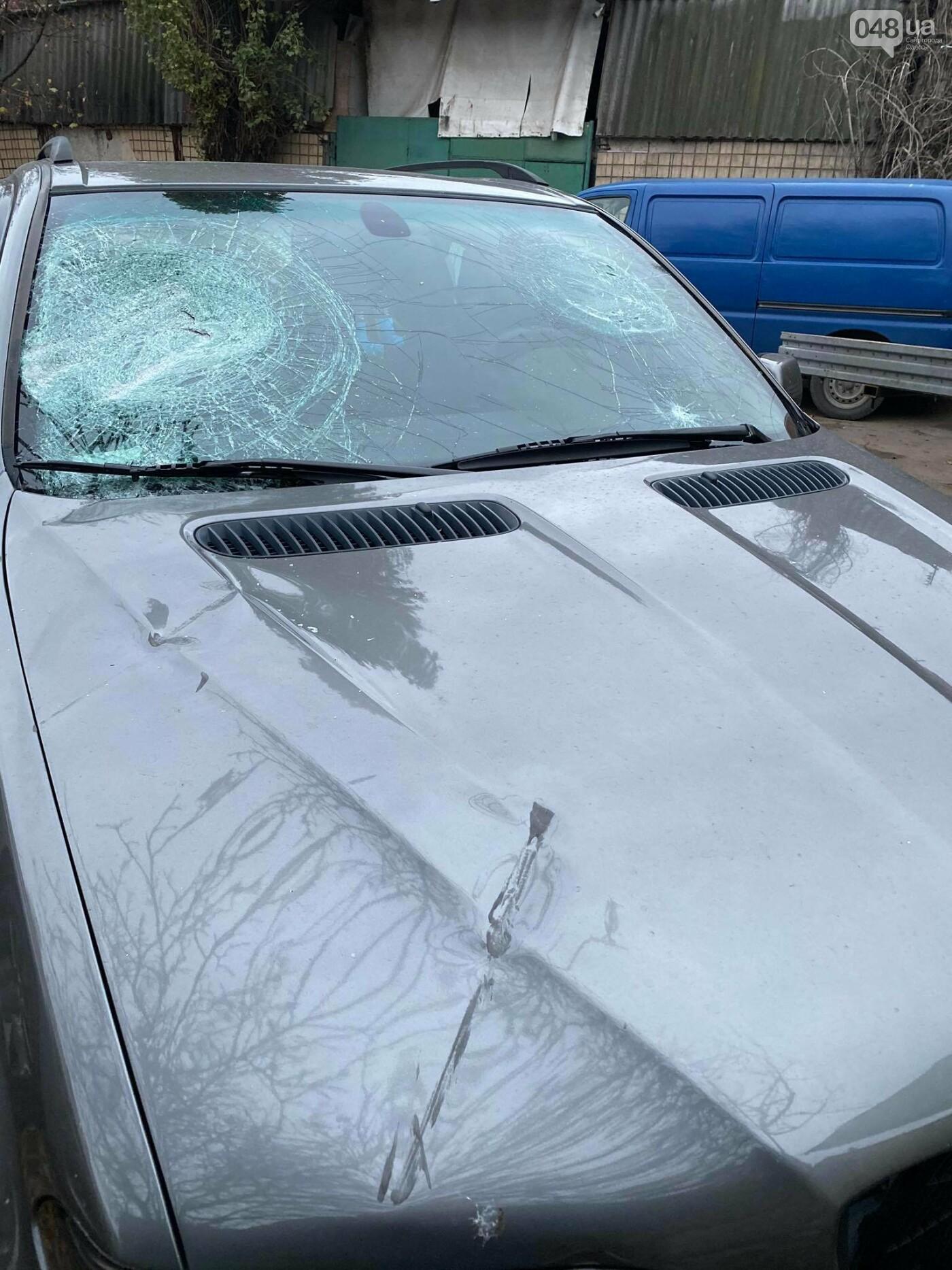В День достоинства и свободы в Одессе разбили битами автомобиль активиста,- ВИДЕО, ФОТО, фото-4
