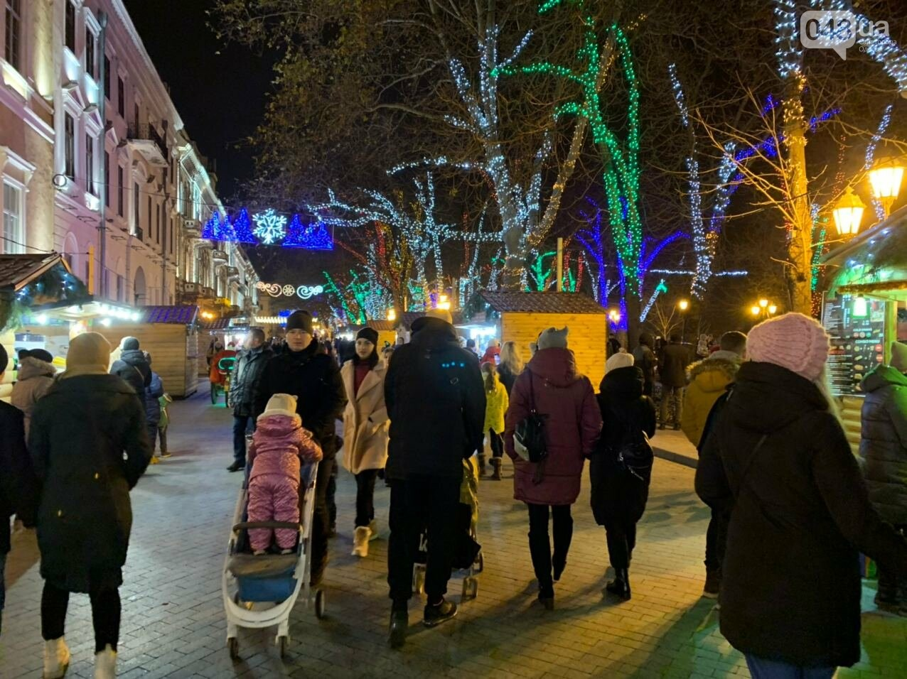 Фоторепортаж: В Одессе зажгли главную елку города, - ФОТО, ВИДЕО, фото-9