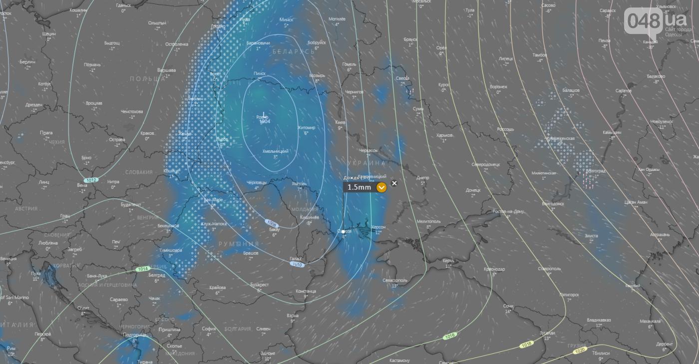 Погода в Одессе на неделю., Windy.com