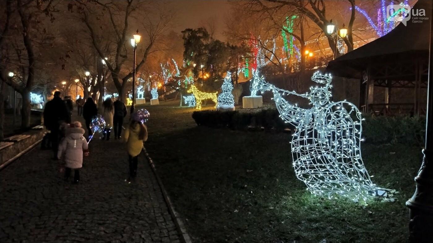 Новогодние огни Потемкинской лестницы и Стамбульского парка в Одессе, - ФОТОРЕПОРТАЖ, фото-12, ФОТО: Александр Жирносенко