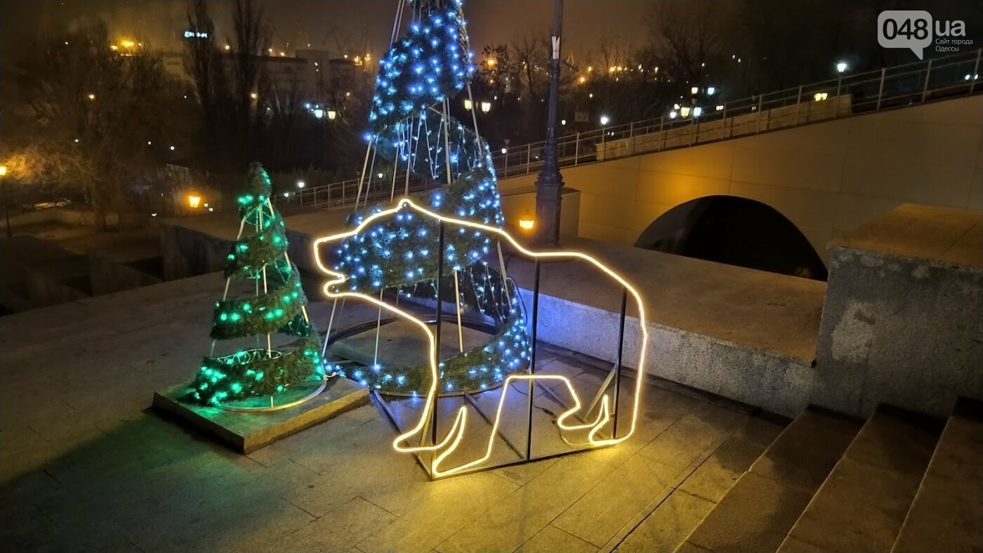 Новогодние огни Потемкинской лестницы и Стамбульского парка в Одессе, - ФОТОРЕПОРТАЖ, фото-6, ФОТО: Александр Жирносенко